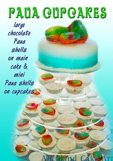 Edible Cake Images New Zealand : PAUA SEASHELL NEW ZEALAND WEDDING CAKE AND CUPCAKES Flickr