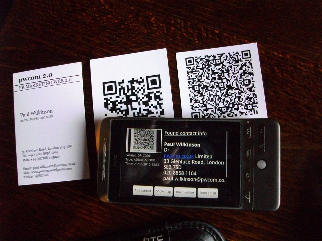 Qr codes on business cards business cards two versions w flickr magicingreecefo Image collections