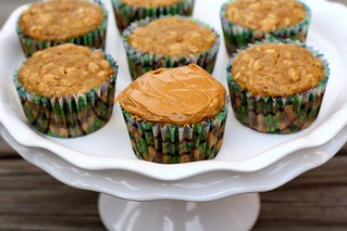 Banana Peanut Butter Oatmeal Muffins | by Tracey's Culinary Adventures