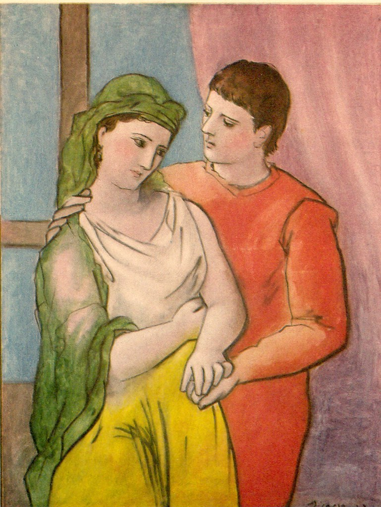 A Picasso Painting With A Border Images
