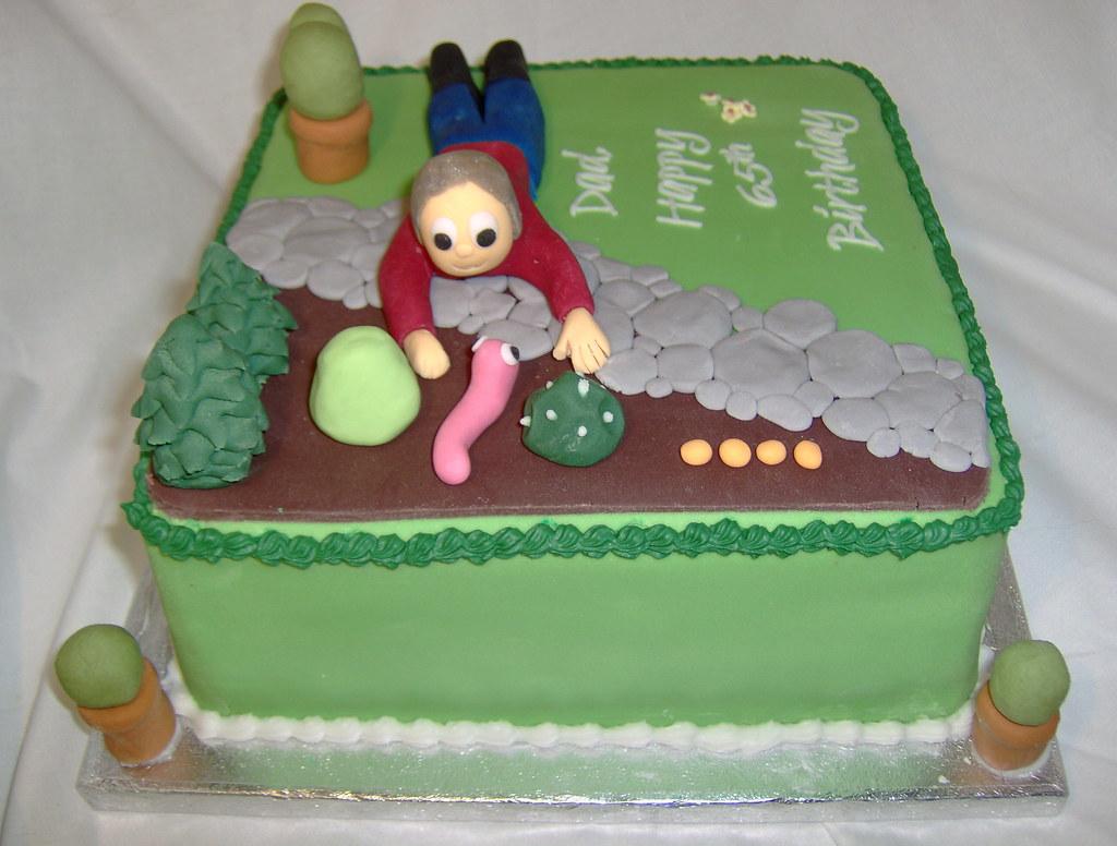 Gardening Birthday Cake Images