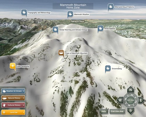 Mammoth Mountain 3D - Interface with points of interest | by ideum