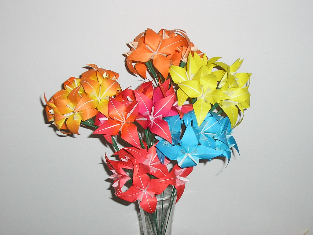 Origami Flower Bouquet | TITLE: Summer Flowers CREATOR ... - photo#15