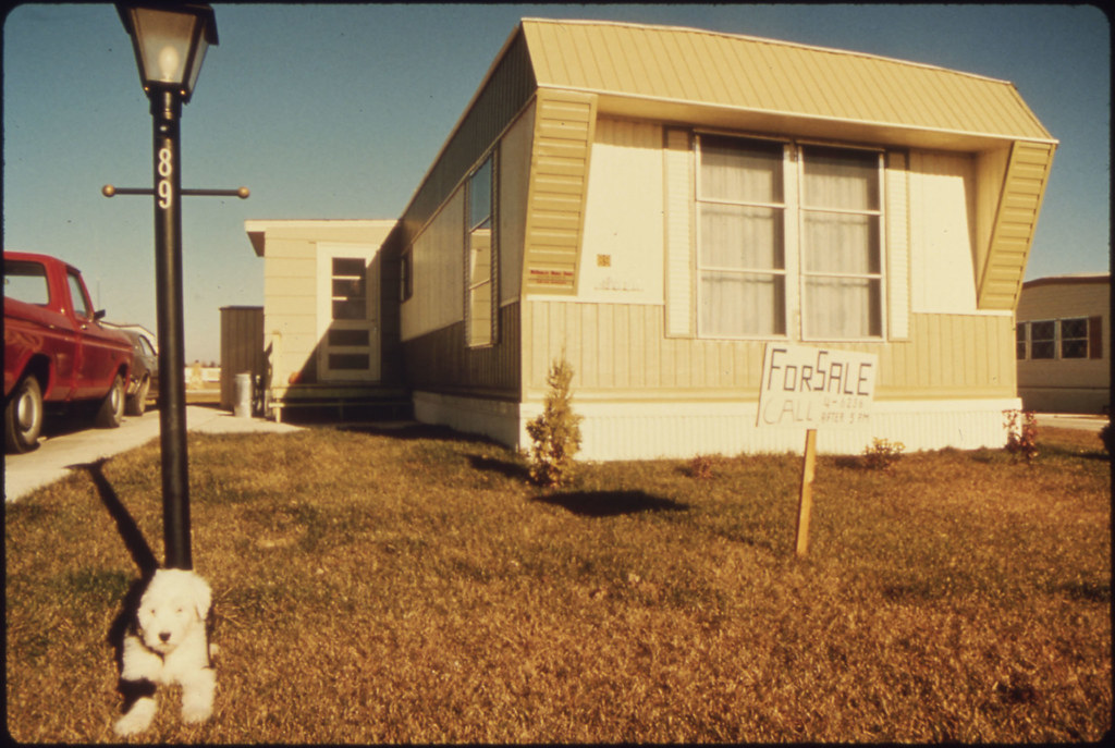 Mobile Home In One Of Two Mobile Home Parks Which Was Crea