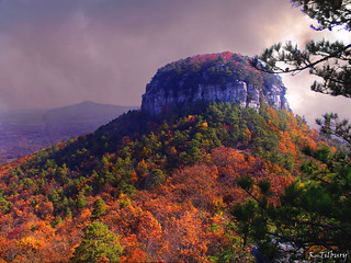 Pilot Mountain Storm    [Explored October 23, 2010 - #35] | by Raw Light Photography