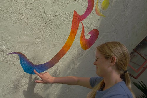 Kristen LaBonte participating in Art Walk | by California State University Channel Islands