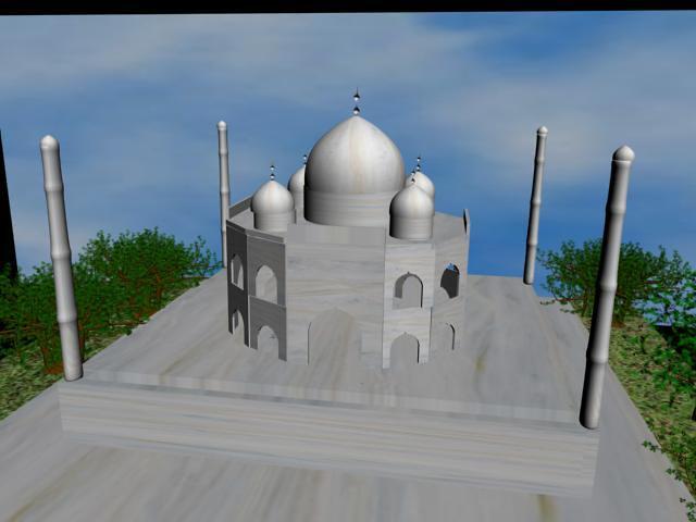 Taj Mahal 3d Image: 4 - Taj Mahal - 3D Model