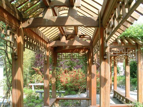 Chinese pergola gerrit visser flickr for Canisse pergola
