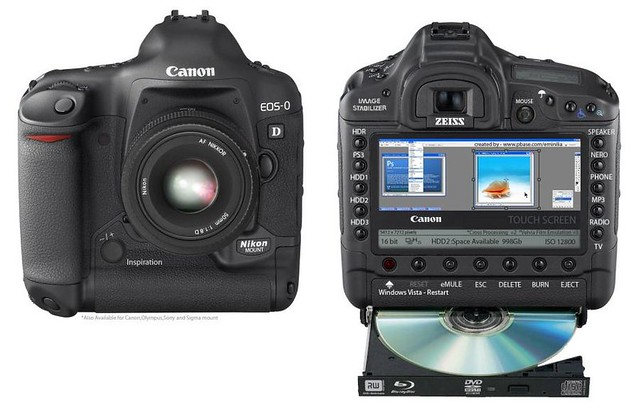 Canon 0D Canon 0D digital camera which can mount Nikkor l…