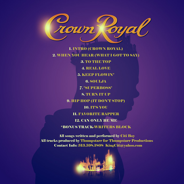 Crown Royal Album Cover (Back) | Flickr - Photo Sharing! - photo#11