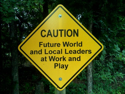 Caution: Future World and Local Leaders at Work and Play | by Wesley Fryer