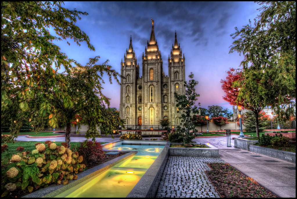 Lds Temple Salt Lake City View Of The Lds Temple In