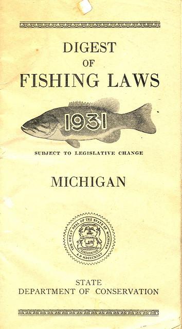 1931 michigan fishing license guide 1931 michigan for Michigan fishing license online