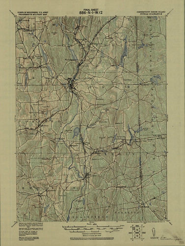 Putnam Quadrangle 1915 - USGS Topographic Map 1:62,500 | by uconnlibrariesmagic