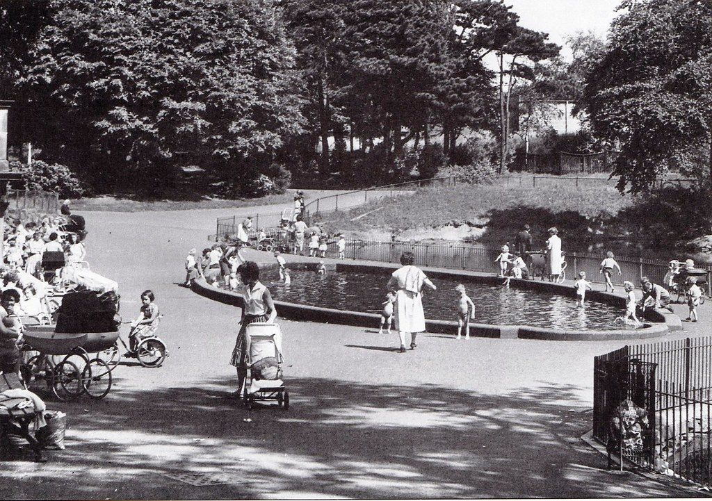 Moor park preston june 1960 this small paddling pool for Small paddling pool