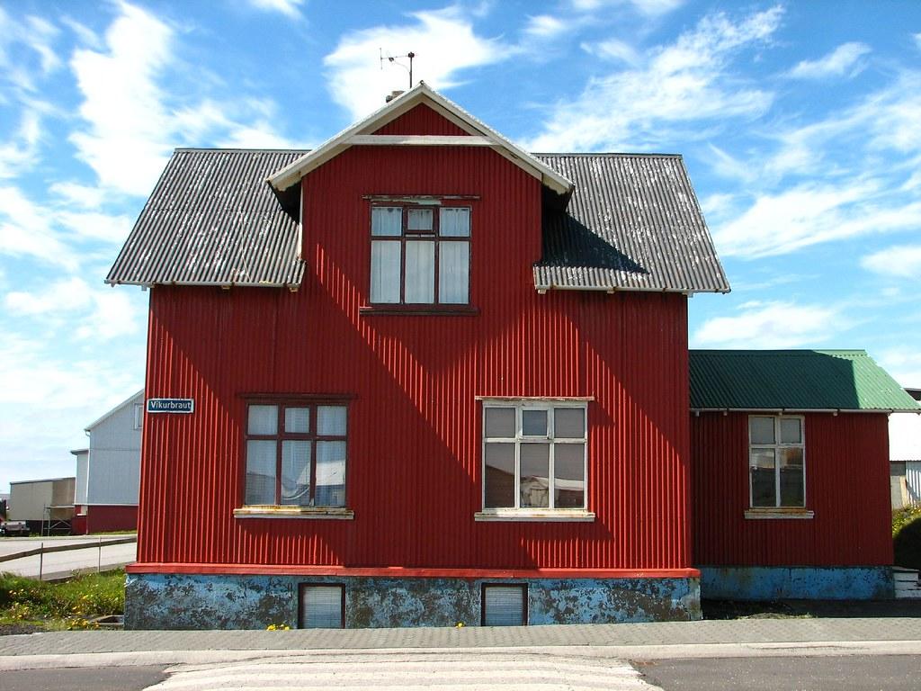 Corrugated Metal House Grindavik Iceland Aunt Sassy