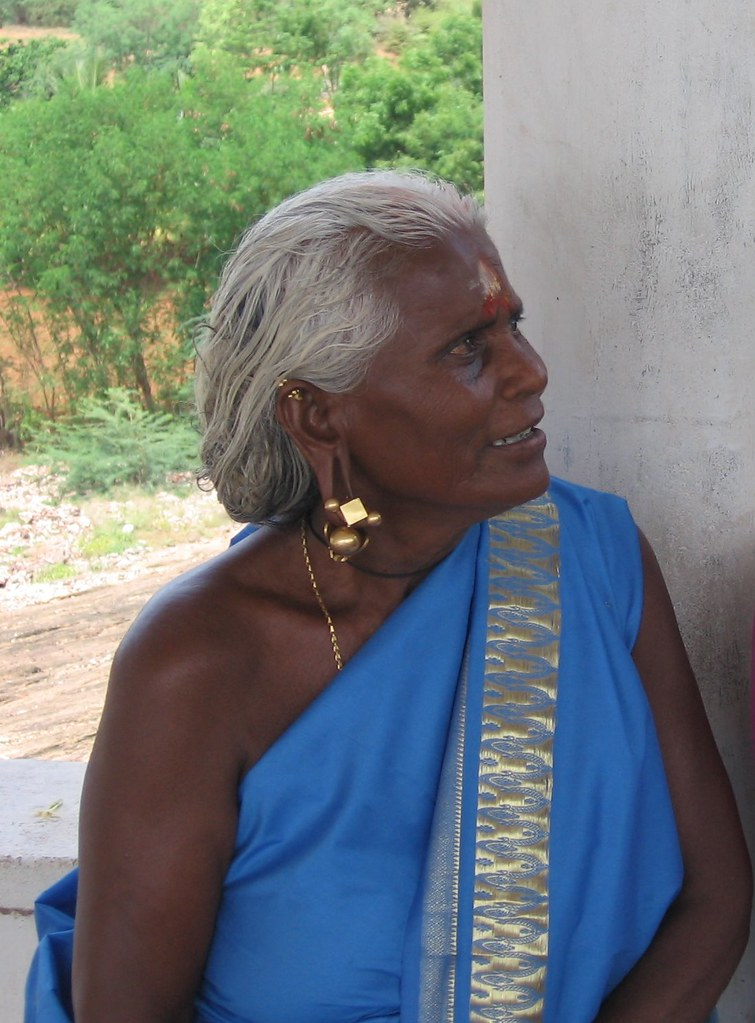 oldlady with ear rings | One of the very old and custom ...