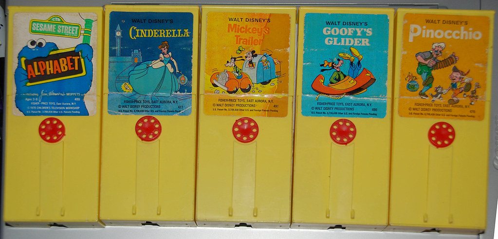 Fisher-Price Movie-Viewer Carts - various - 1970's | Flickr