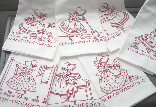 Redwork embroidery tea towels - Free embroidery designs for kitchen towels ...