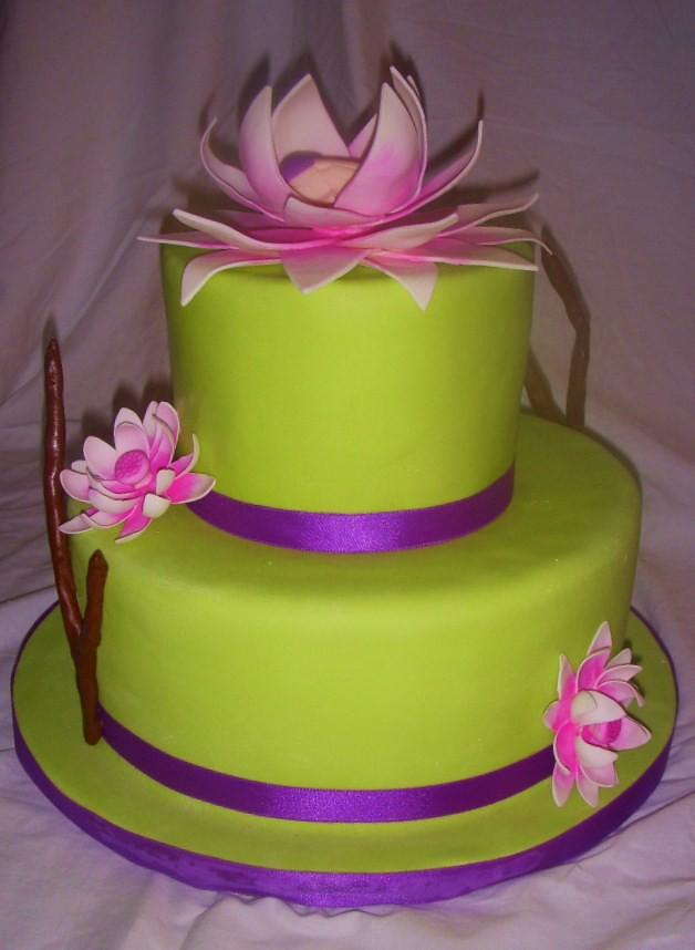 Red Lotus Cake Design : Lotus Baby Shower I flew to FL to visit my friend Liz ...
