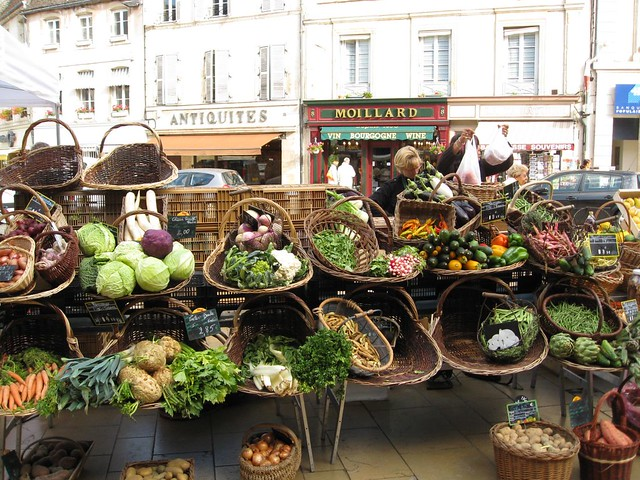 Beaune farmers market  Denise  Flickr