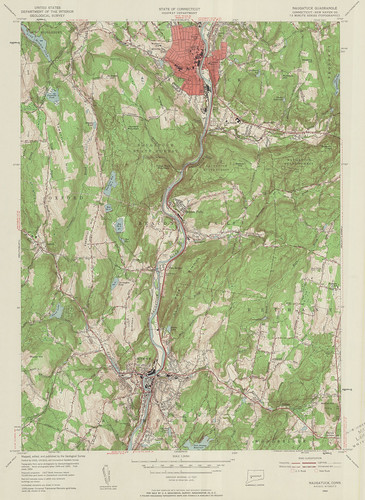 Naugatuck Quadrangle 1954 - USGS Topographic Map 1:24,000 | by uconnlibrariesmagic