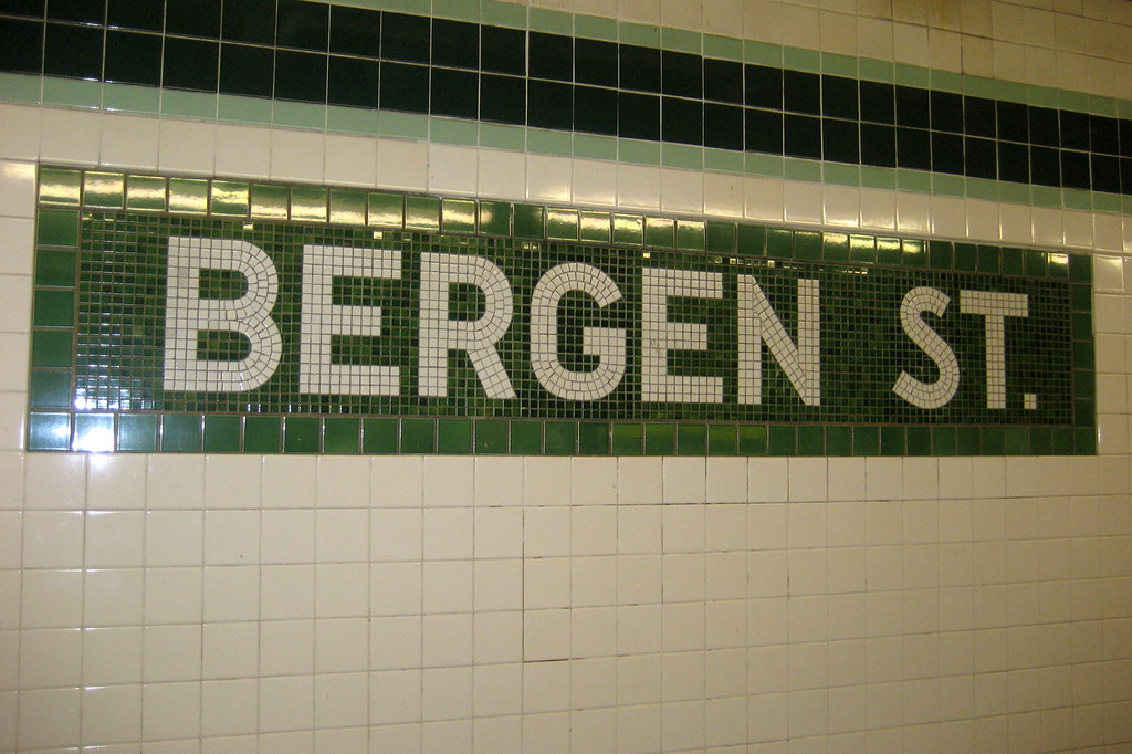 Nyc Brooklyn Boerum Hill Bergen Street Subway Statio