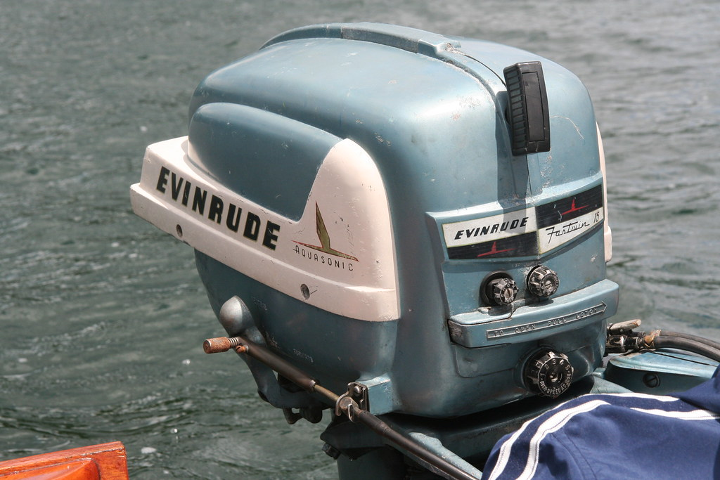 evinrude fastwin   evinrude aquasonic  horsepower flickr
