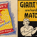 Giant Market Matchbooks, 1950's