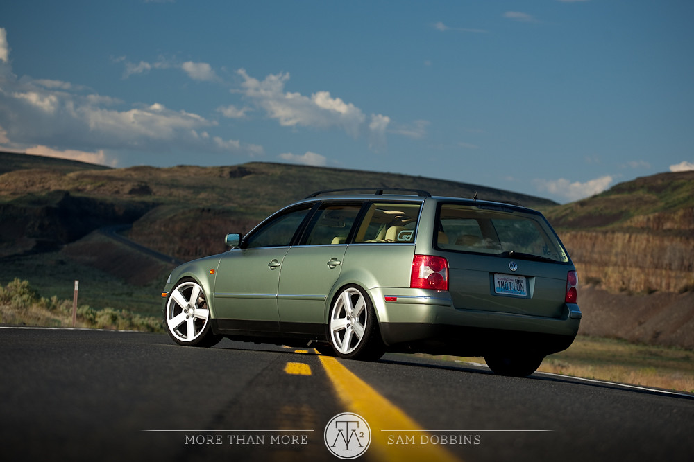 "VW Passat Wagon on 19"" Audi RS6 Reps - 0711 