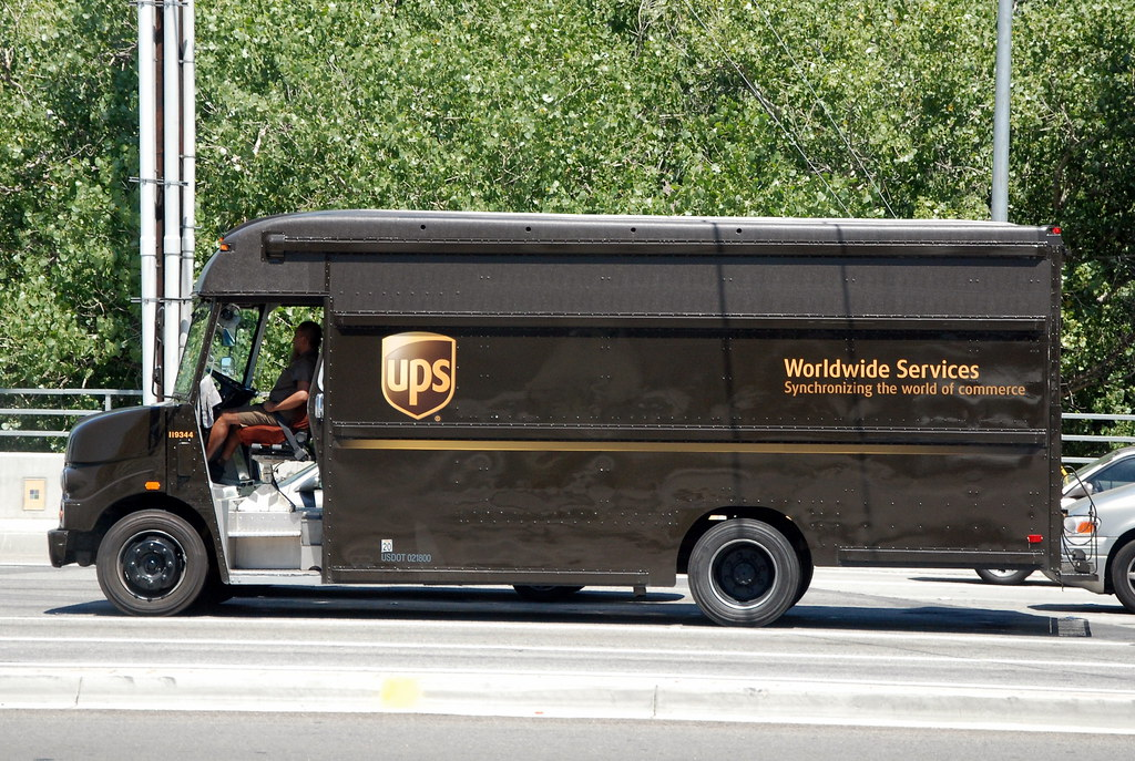 united parcel service ups delivery truck navymailman flickr. Black Bedroom Furniture Sets. Home Design Ideas
