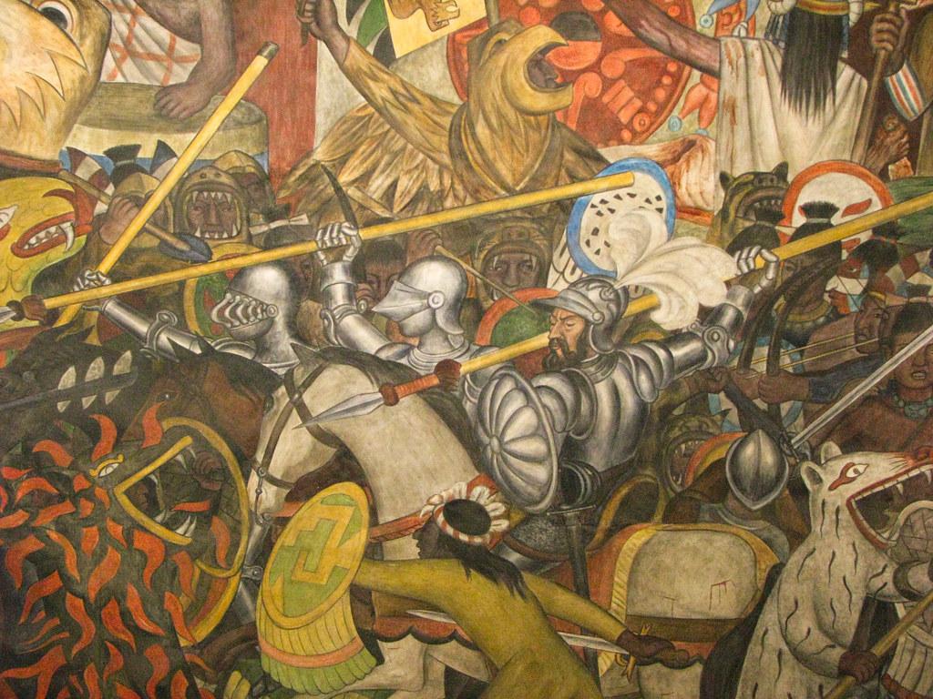 La conquista | Mural by Diego Rivera, Palacio Nacional ...
