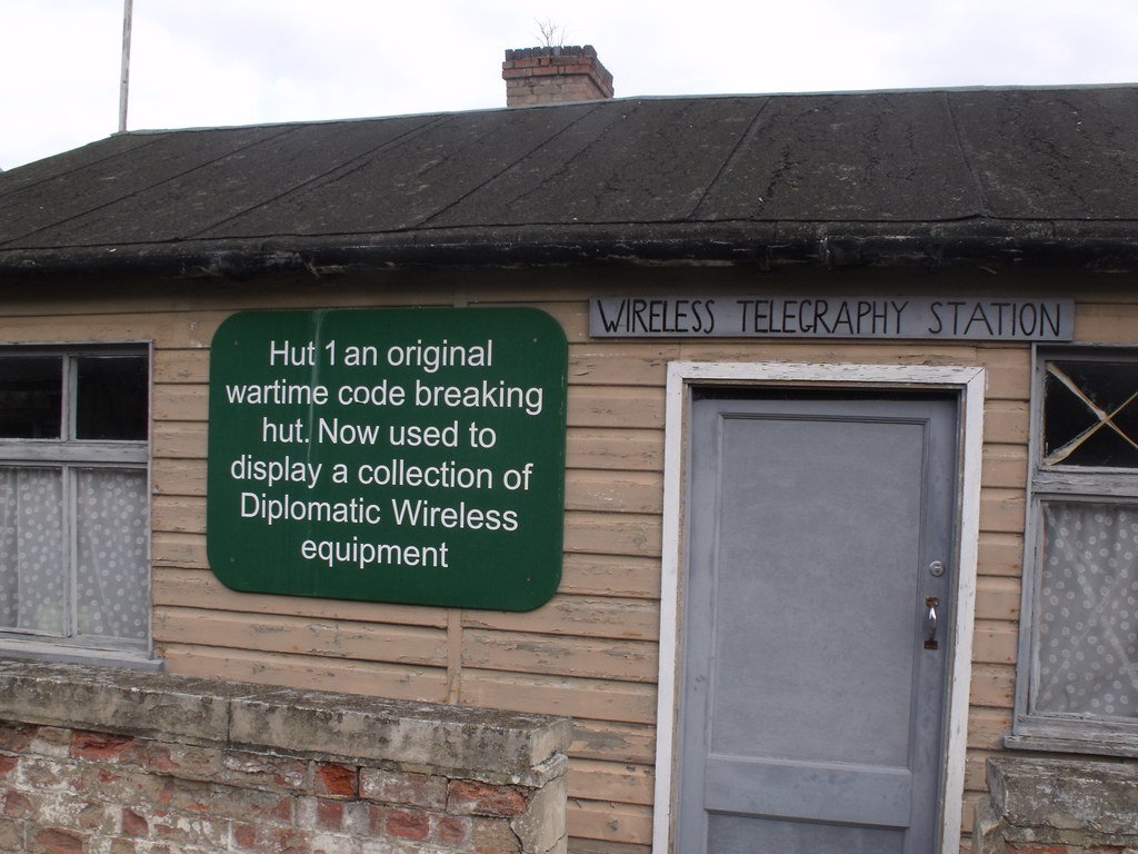 Bletchley Park - Hut 1 - sign | At Bletchley Park this is ...