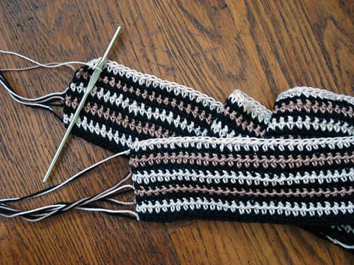 Free Knitting Pattern Vertical Stripe Scarf : Vertical striped scarf 2.0 I restarted the vertical stripe? Flickr