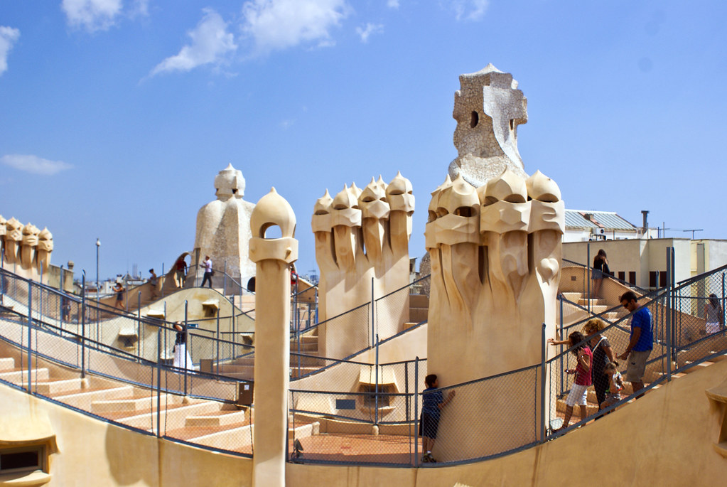 Casa Milà | roof | 2 | Chimneys and other structures on ... |Casa Mila Roof