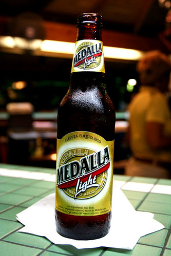 Puerto Rico Medalla Light We Drank A Lot Of This In
