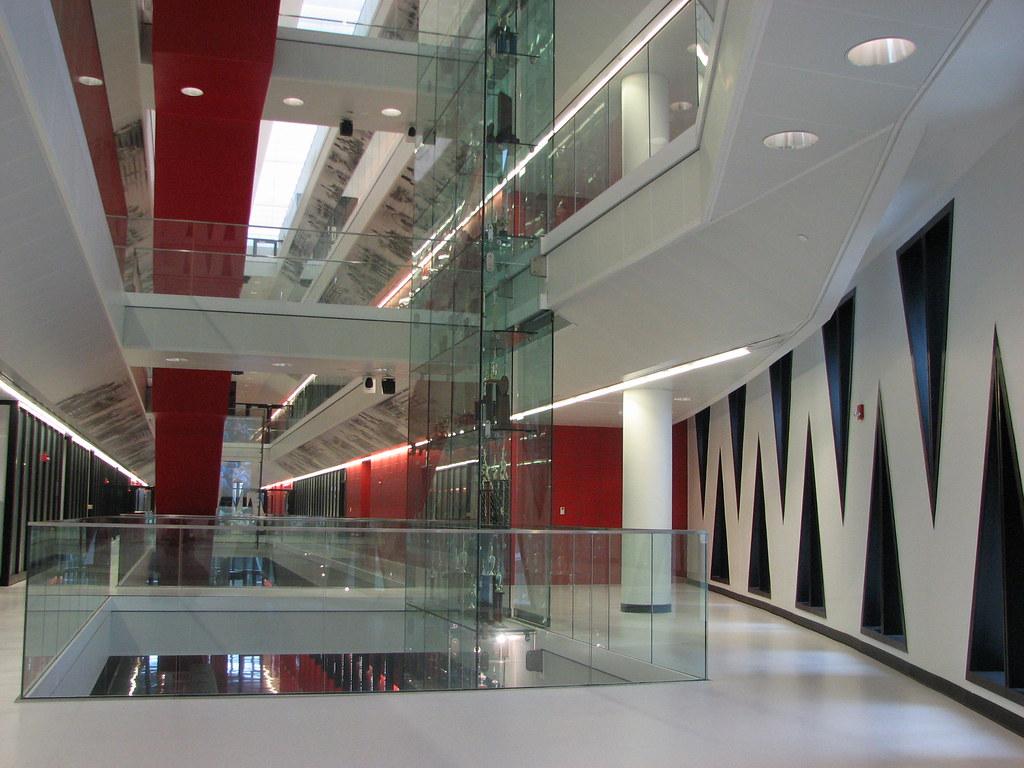 Foyer Museum Jobs : Tschumi lindner athletic center architect bernard