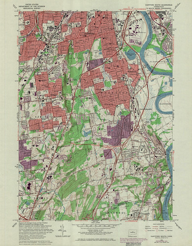 Hartford South Quadrangle 1972 - USGS Topographic Map 1:24,000 | by uconnlibrariesmagic