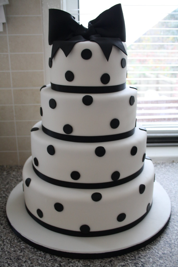 Tier Black And White Cakes