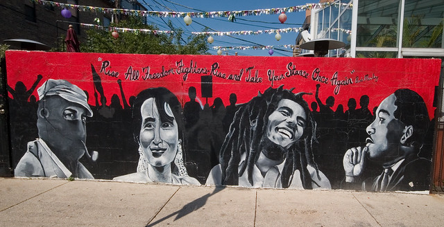 Flickr photo sharing for Bob marley mural san francisco