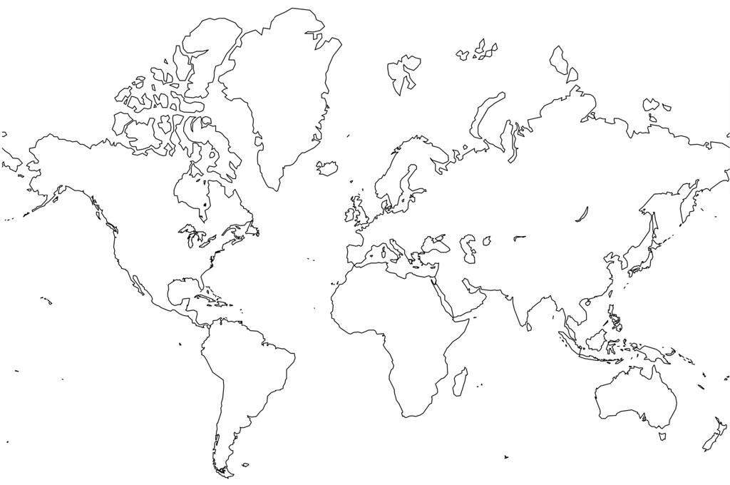 All sizes blank world map no borders flickr photo sharing gumiabroncs Image collections