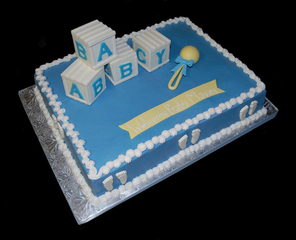 Sheet Cake Baby Shower Cakes For Boys