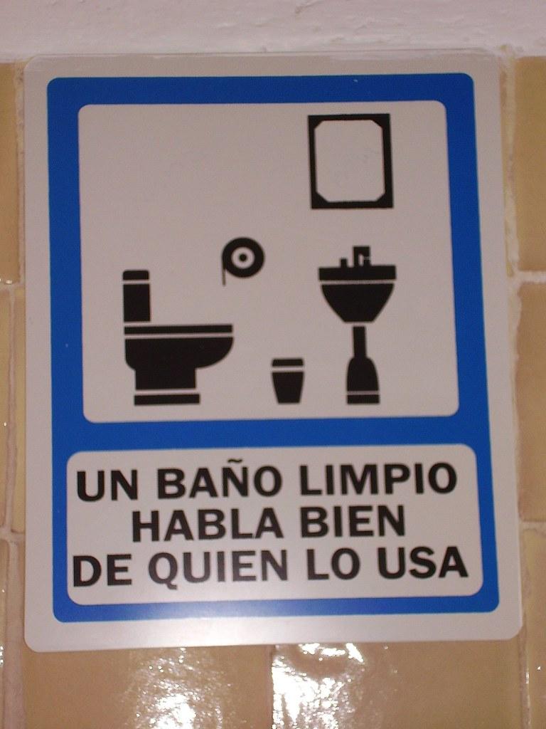 Imagen De Baño Limpio:un baño limpio habla bien de quien lo usa