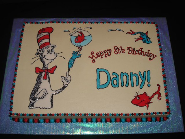 Dr Seuss Buttercream Cake