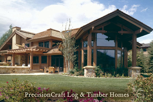 Custom Timber Frame Home Design Located In Sun Valley Id