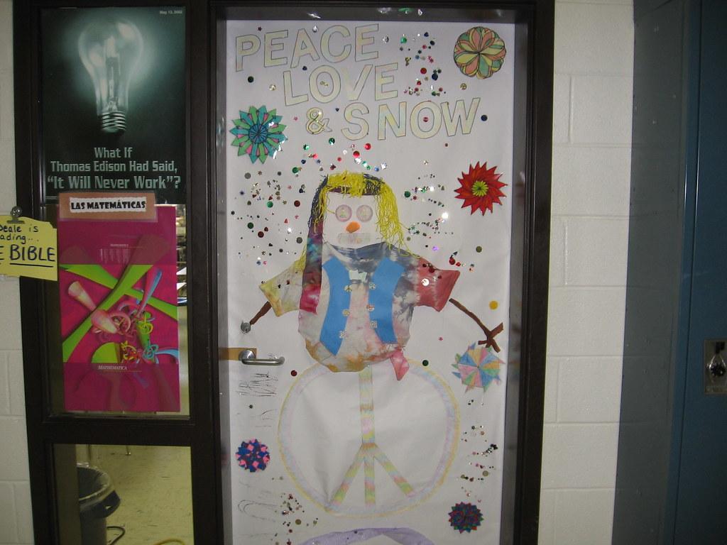 Winter Season Classroom Decorations : My classroom door during winter decorating contest