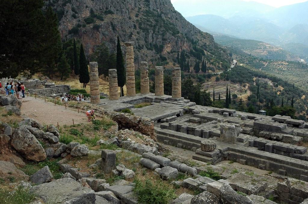 Delphi Greece   A view of the ruins of ancient Delphi ...