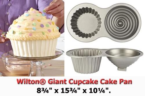 Wilton Giant Cupcake Cake Pan this is wilton s new ...