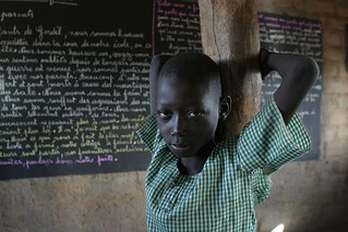 School kid in Gordil, Central African Republic | by hdptcar