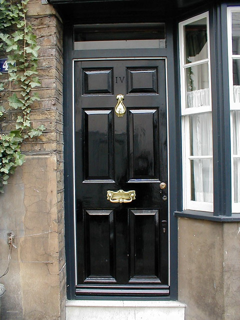 Black door in london cubeless flickr - Sophisticated black interior doors ...